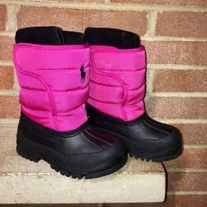 Polo Ralph Lauren Girls size 11 snow boots winter